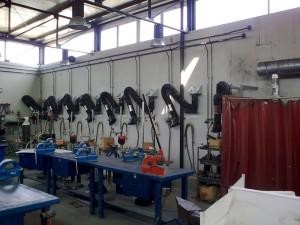 Brazos aspirantes o brazos de extracción articulados para aspiracion industrial