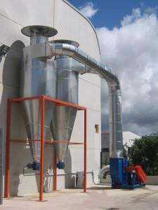 Ciclones decantadores de polvo, serrin, metal, gases y aceites