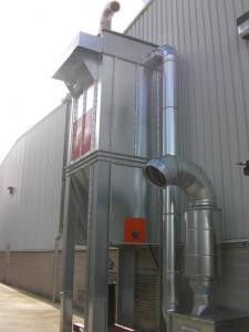 Baterías filtrantes para aspiración y filtración de humos de soldadura y viruta metálica