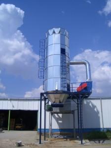 Filtros ciclónicos o ciclofiltros con limpieza mediante impulsos de aire inverso