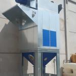 Silos de almacenaje para aspiración y filtración de humos, vapores y polvo de vidrio