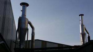 Equipos de aspiración y filtración de humos para la industria de biomasa.