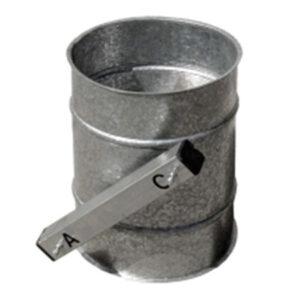 bypass pieza corte paso aire chapa acero galvanizado montaje mediante collarines