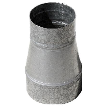 cono flexible pieza cónica chapa acero galvanizado montaje mediante collarines