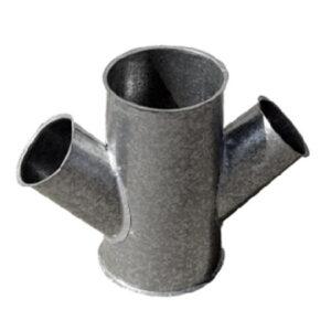 derivaciones piezas en y cónica 3 salidas chapa acero galvanizado