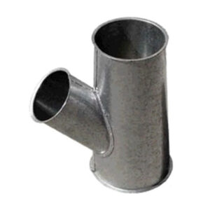 derivaciones piezas en y recta 2 salidas chapa acero galvanizado