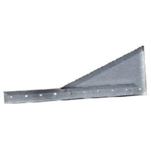 escuadra soporte tubería pared chapa acero galvanizado taladros y talador