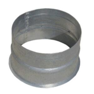 manguito pieza recta chapa acero galvanizado conexion tubo flexible
