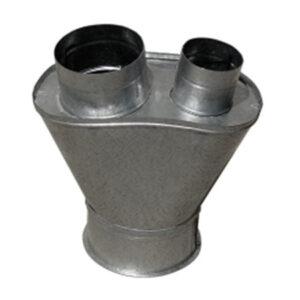 pie de vaca 2 salidas chapa acero soldada completa con maquina de puntos