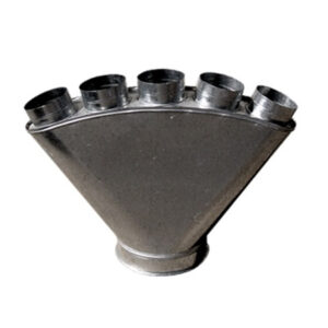 pie de vaca 5 salidas chapa acero soldada completa con maquina de puntos