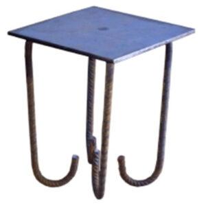 placa de anclaje para bancadas palastro y tetracero conformado