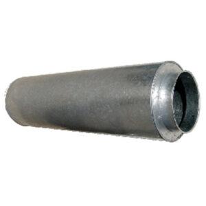 silencioso pieza recta salida aire moto ventilador chapa acero galvanizado montaje mediante collarines