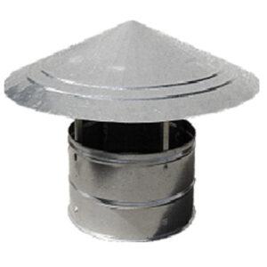 sombrerete salida aire chapa acero galvanizado montaje mediante collarines
