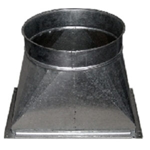 tronco cónica pieza transformación chapa acero galvanizado montaje mediante collarines