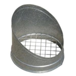 visera pieza recta salida aire chapa acero galvanizado montaje mediante collarines